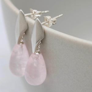 pink wedding earrings