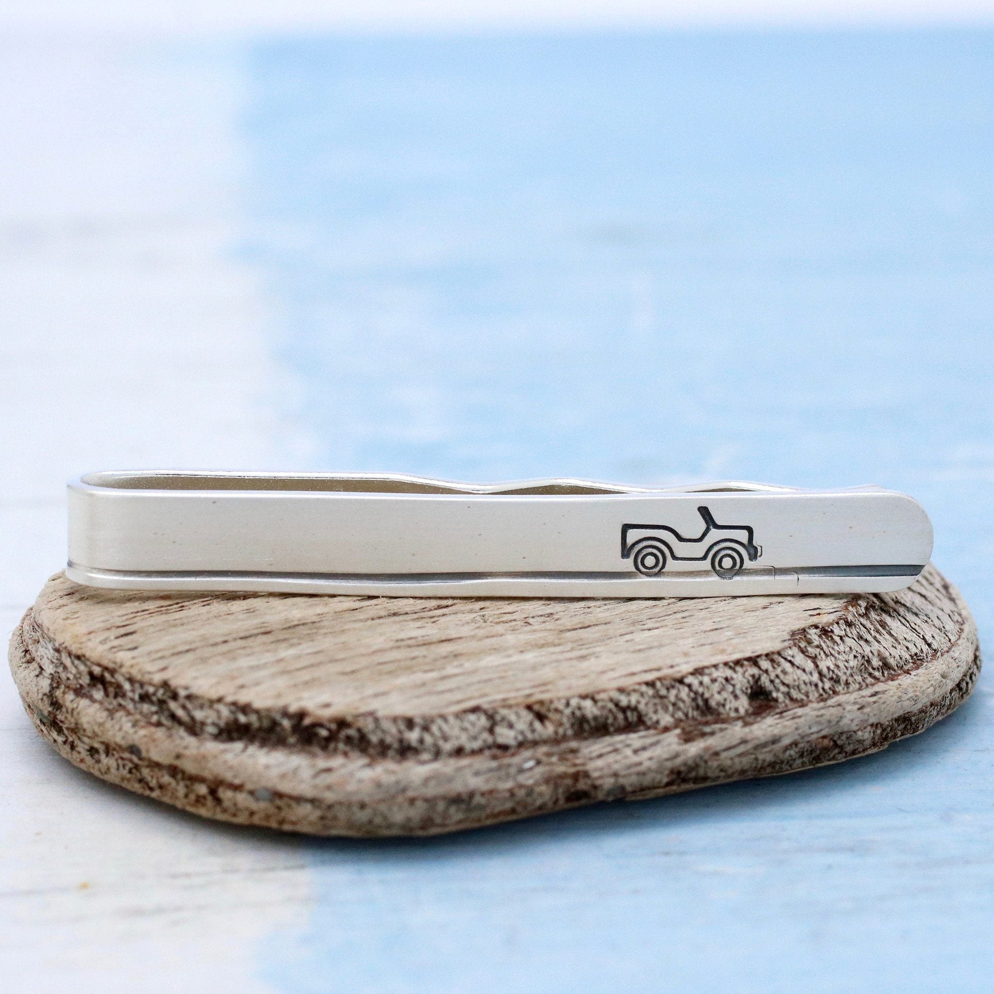 sterling silver car tie clip