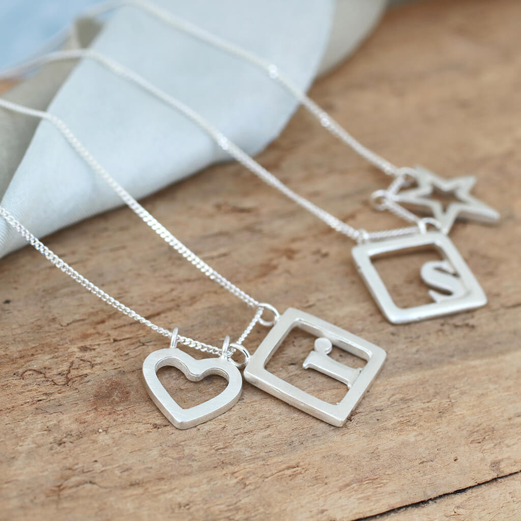 personalised charm necklce