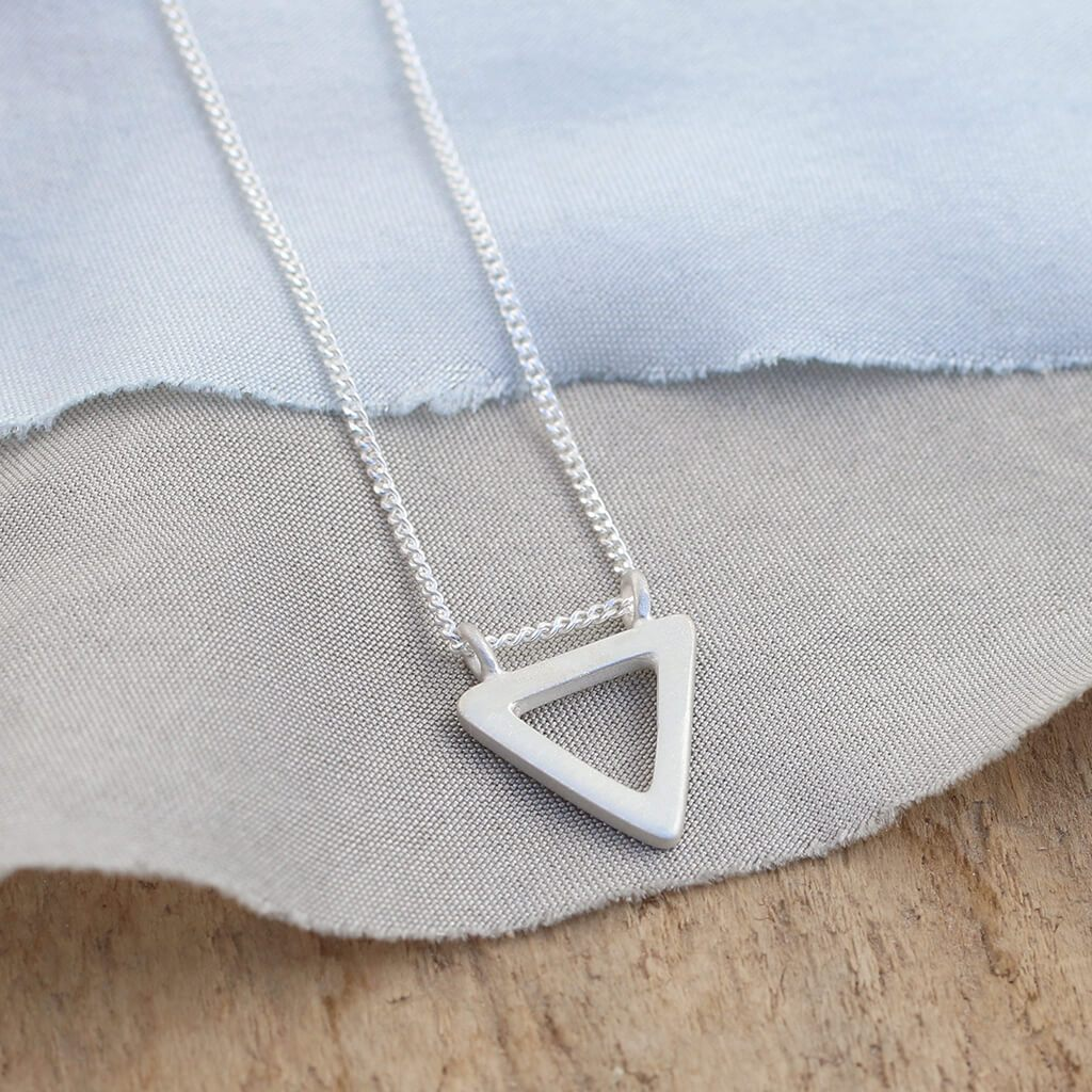 Triangle Necklace - geometric pendant