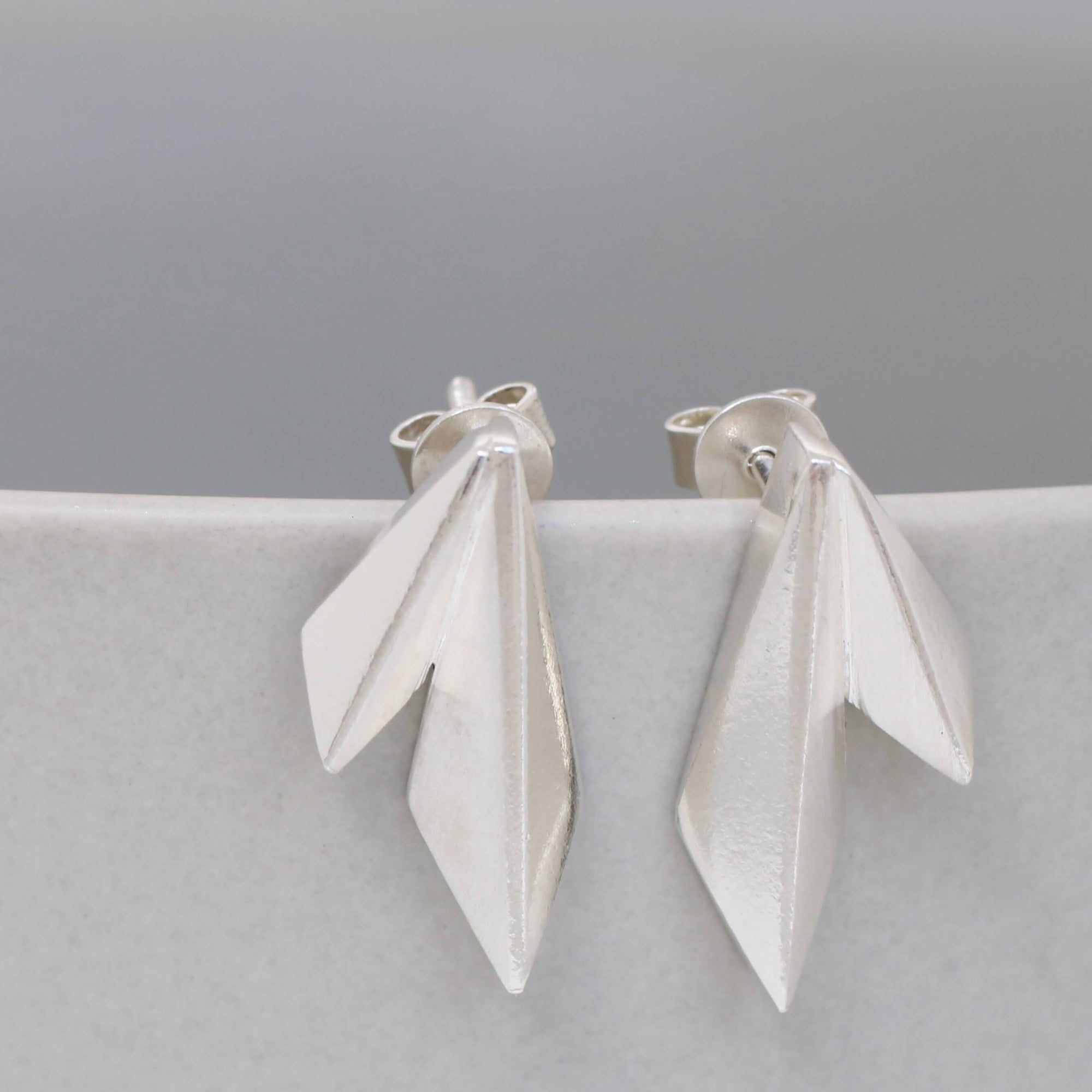 Deco Double Kite Stud Earrings