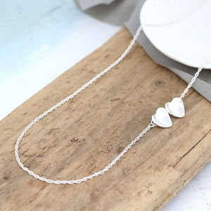 simple heart necklace silver