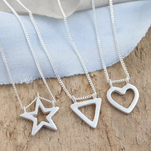 Geometric Shape Necklaces