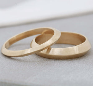 handmade gold wedding bands