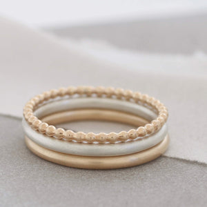 9ct gold stackable ring set