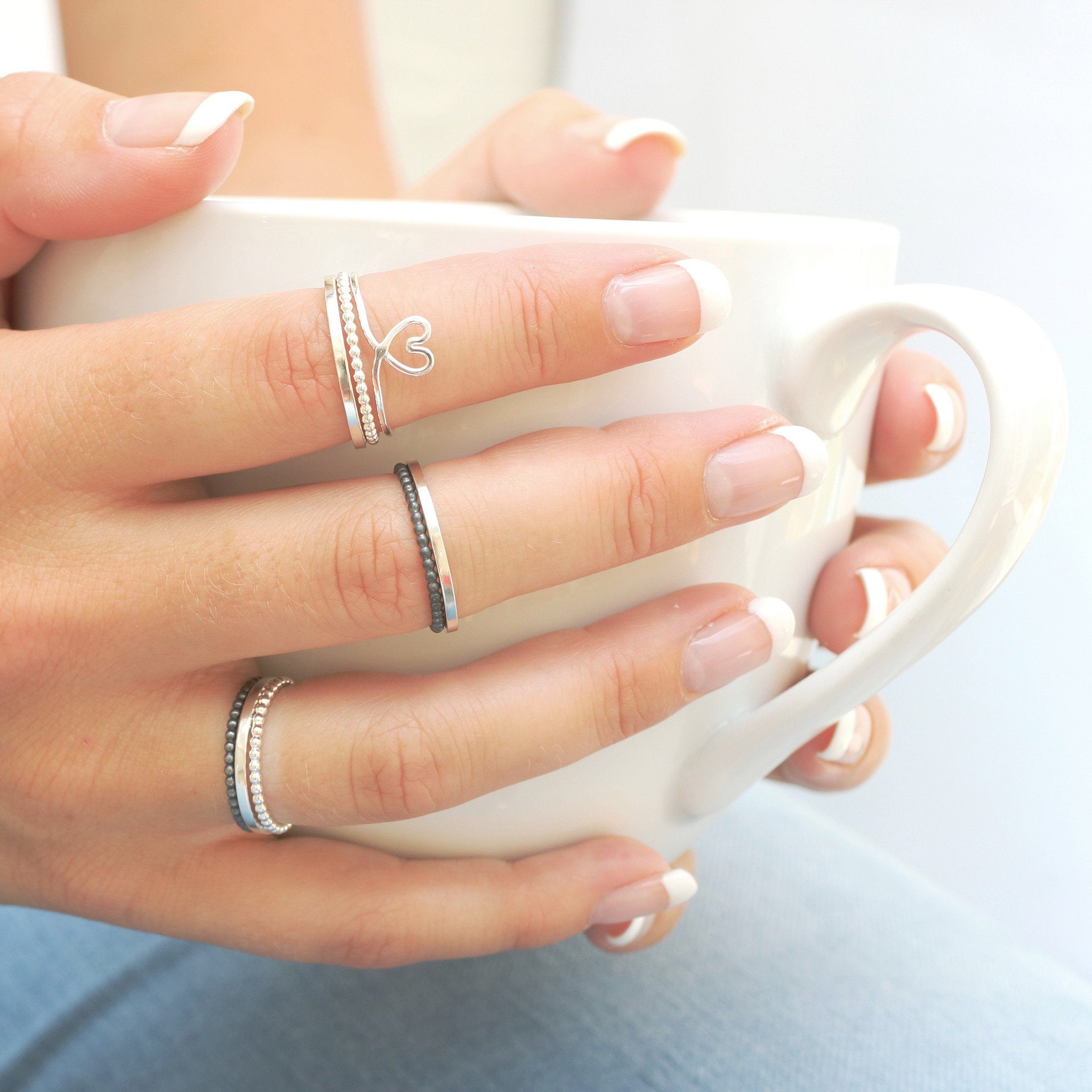 super skinny stacking rings