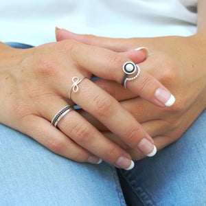 Infinity Knot Ring. Dainty Ring