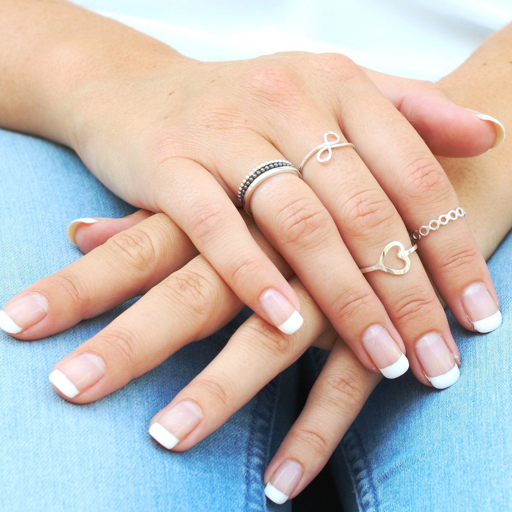 teen rings midi thumb stackers