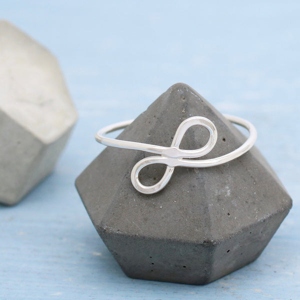 Silver Infinity Love Knot Ring