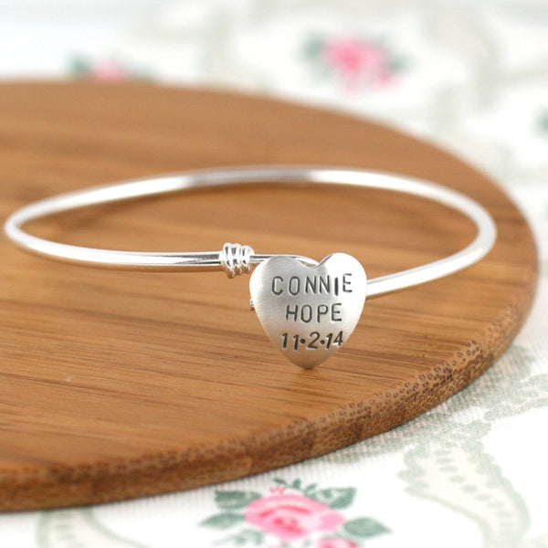 Personalised New Baby Mothers Day Bangle