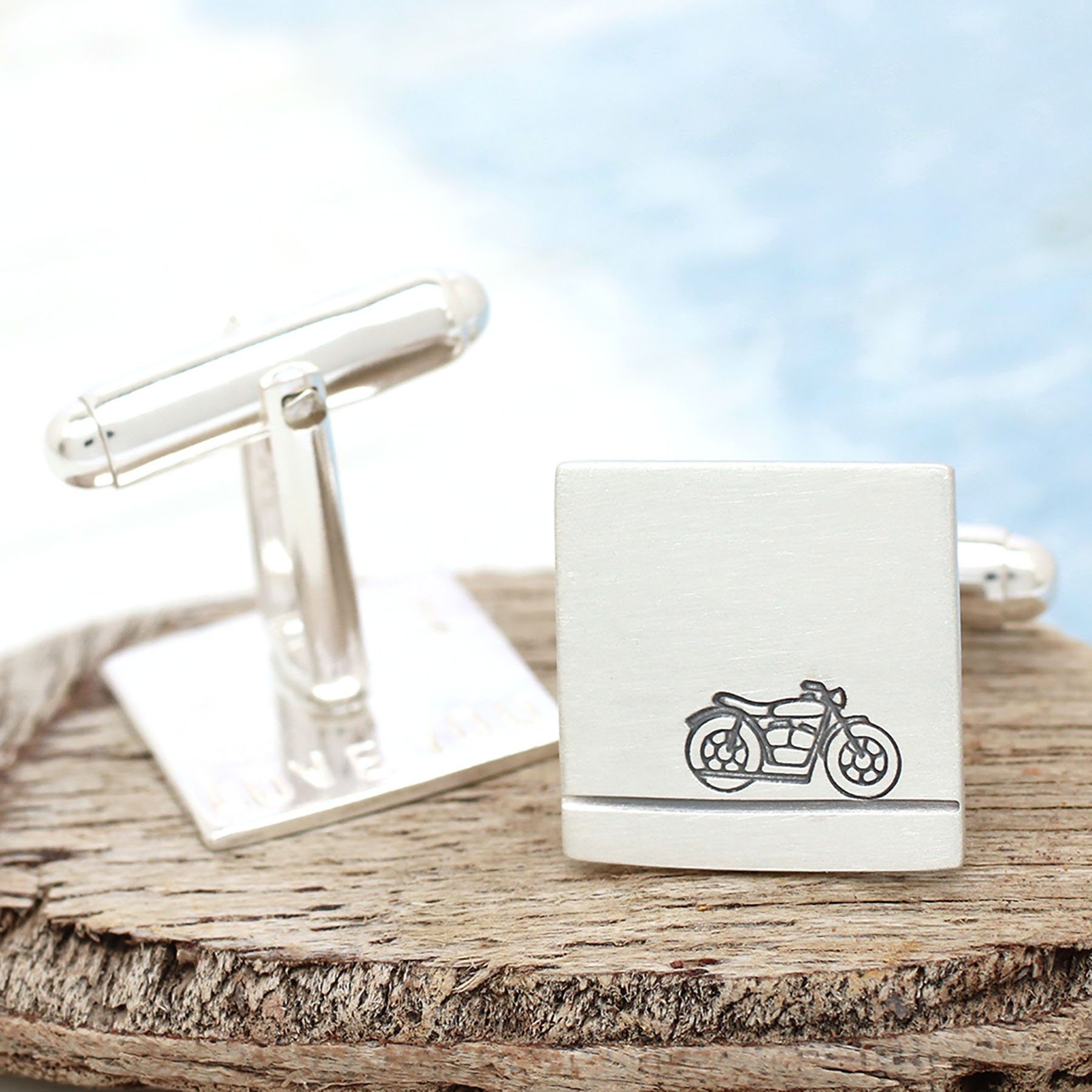 motorcyclist groom wedding cufflinks