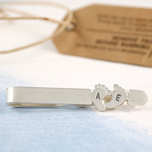Personalised Foot Print Tie Clip