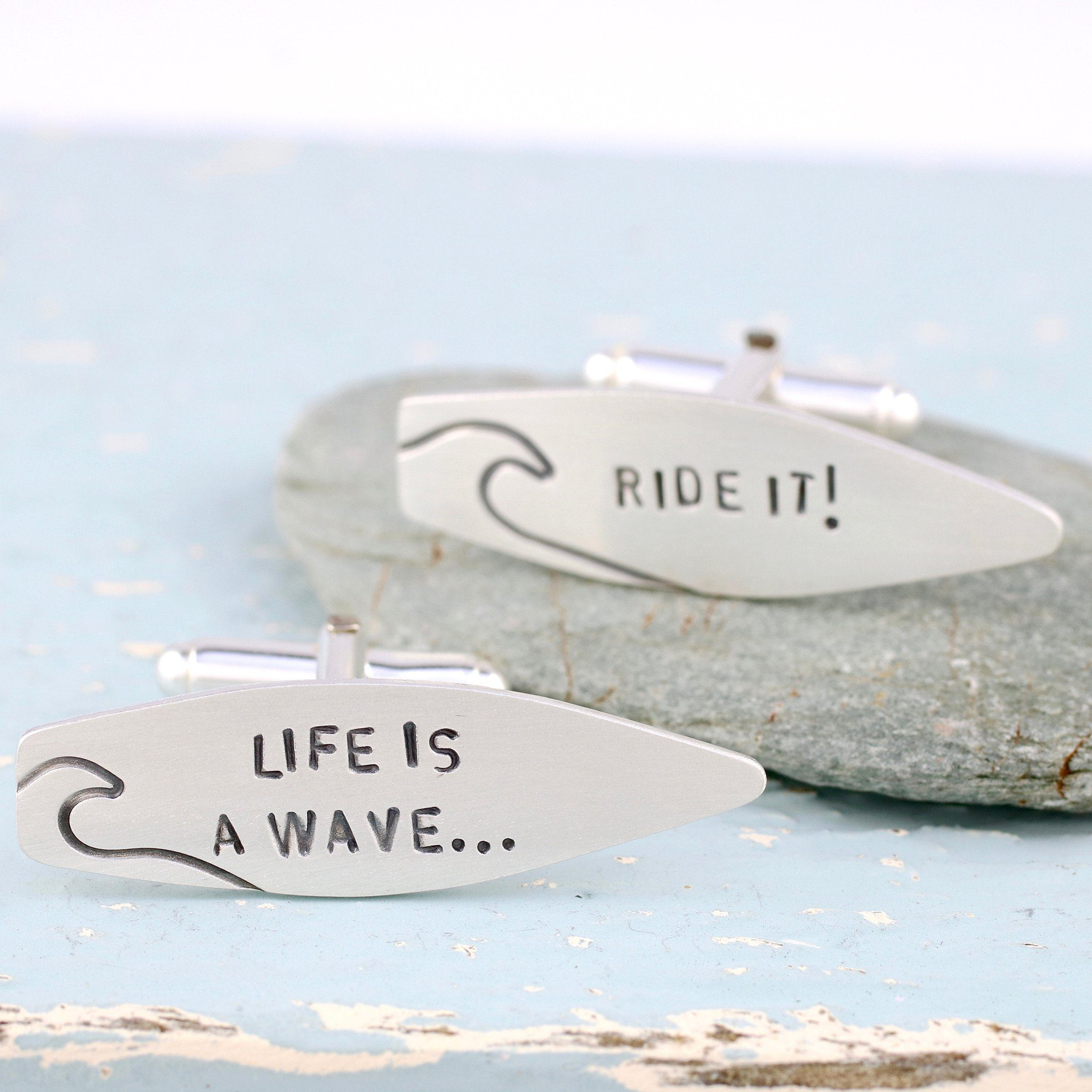 Personalised Surfboard Cufflinks