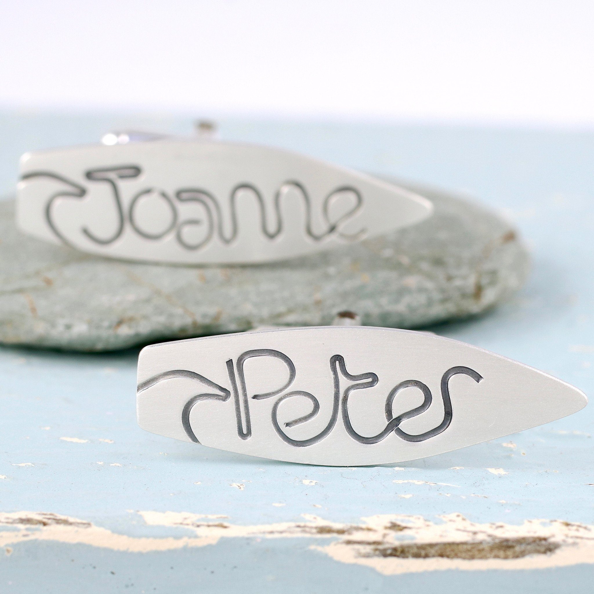 surfer wedding cufflinks