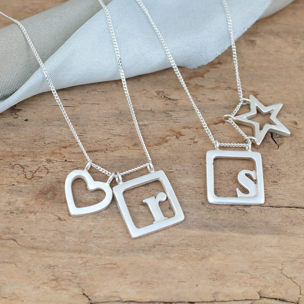Personalised Initial Charm Necklace