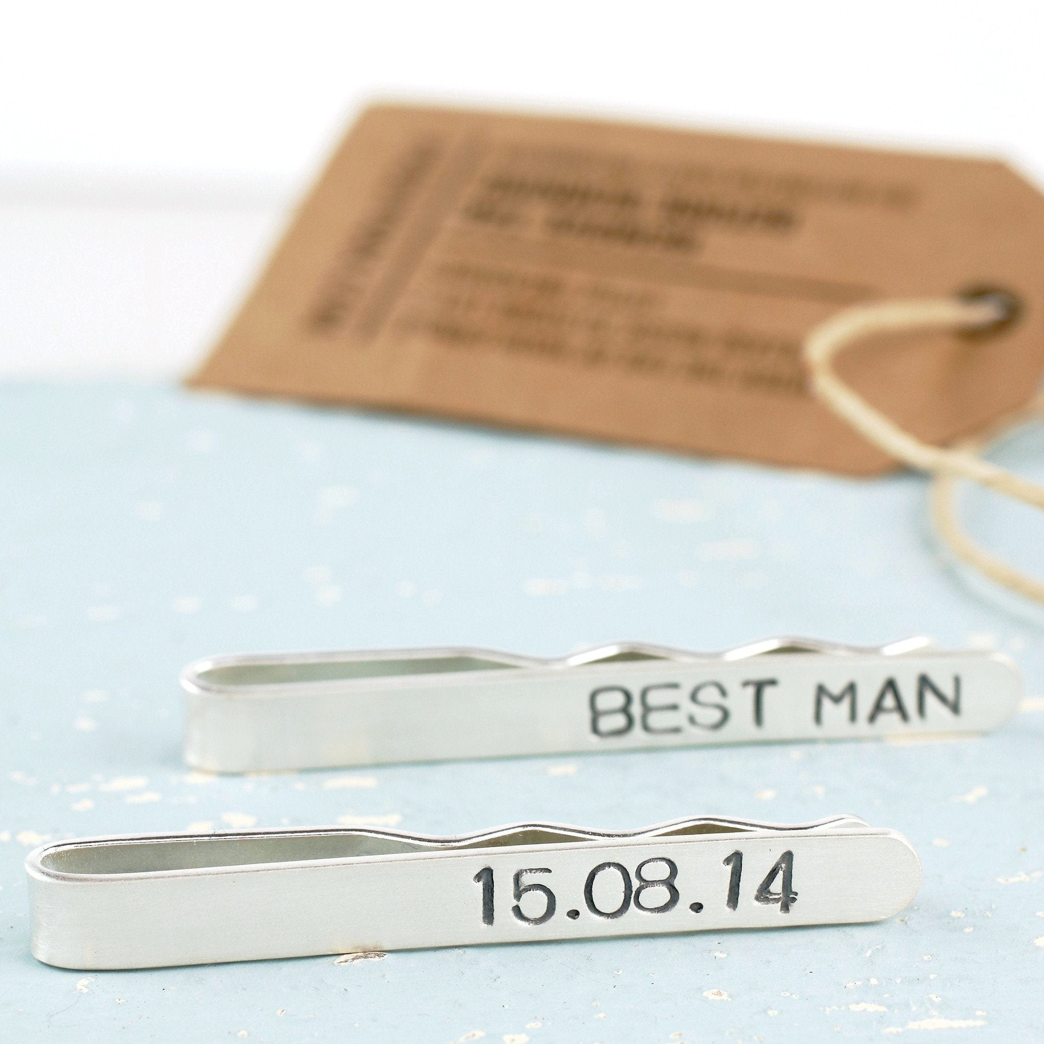 Personalised Wedding Tie Clip