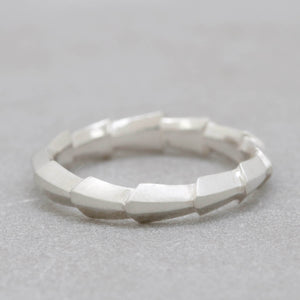 NEW Deco Flow Ring - Sterling silver geometric band ring