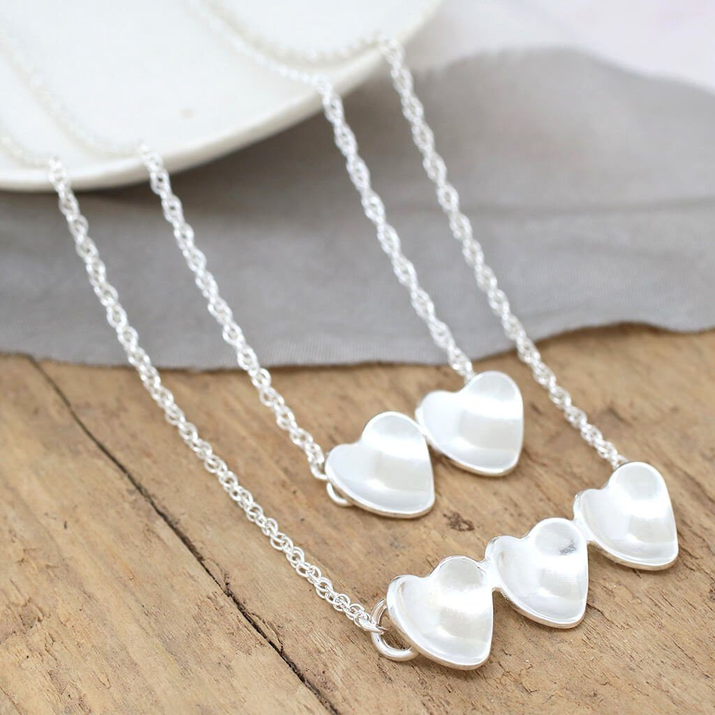 Silver Anniversary Heart Necklace