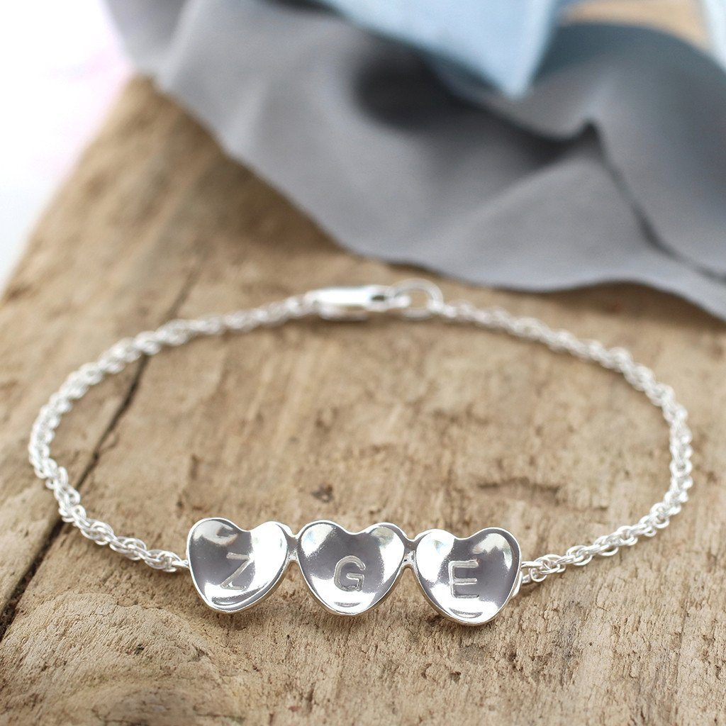 Personalised Heart Bracelet. Friendship Bracelet