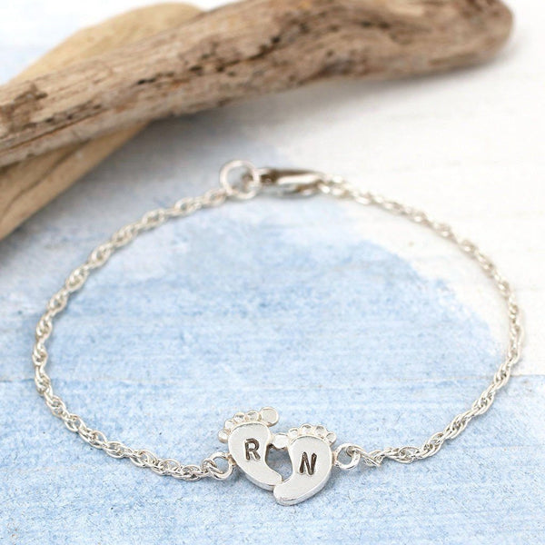 New Mum Foot Print Personalised Bracelet