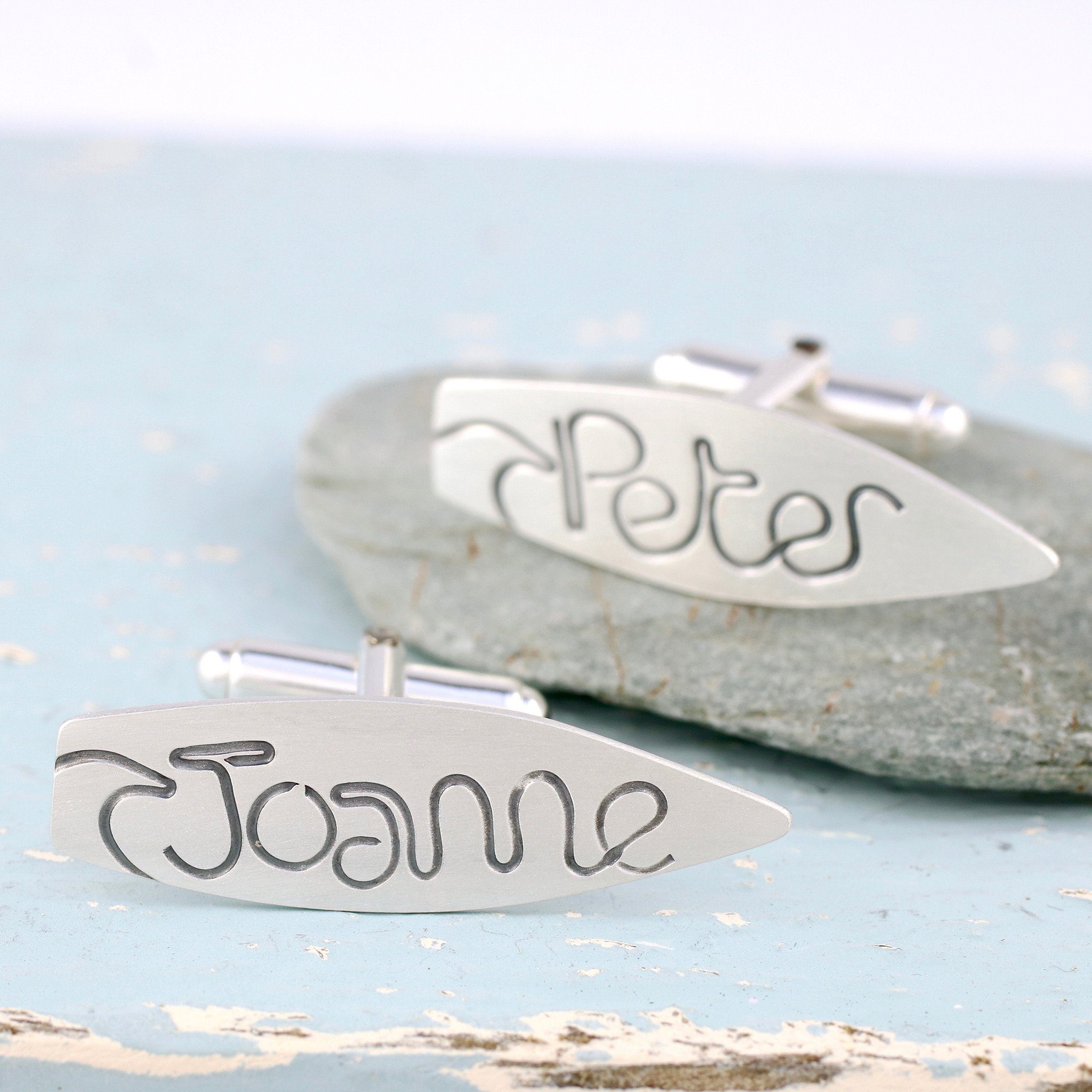 beach wedding cufflinks