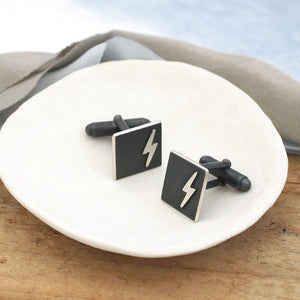lightening strike cufflinks