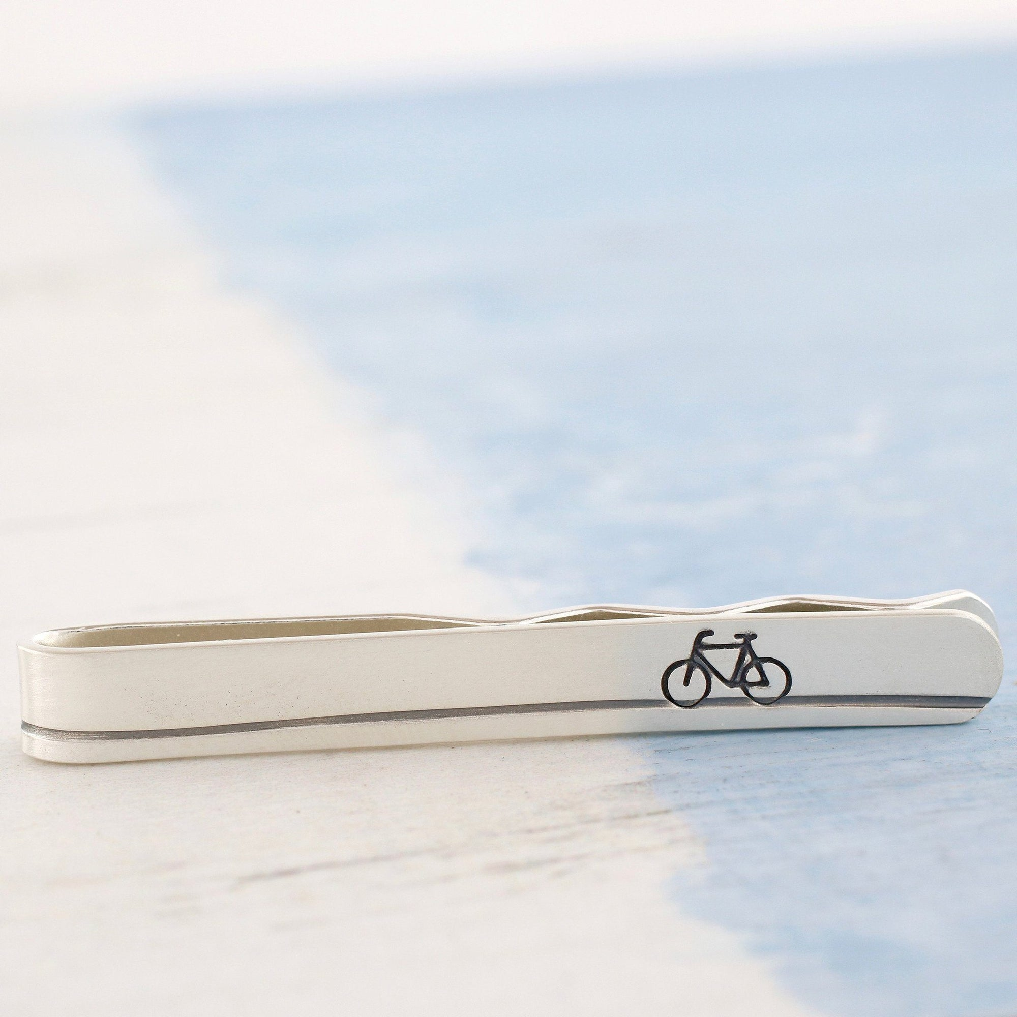 Sterling Silver Bike Tie Slide