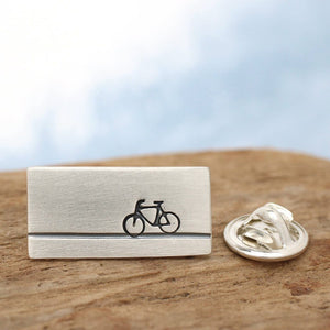Sterling Silver Bike Tie Pin