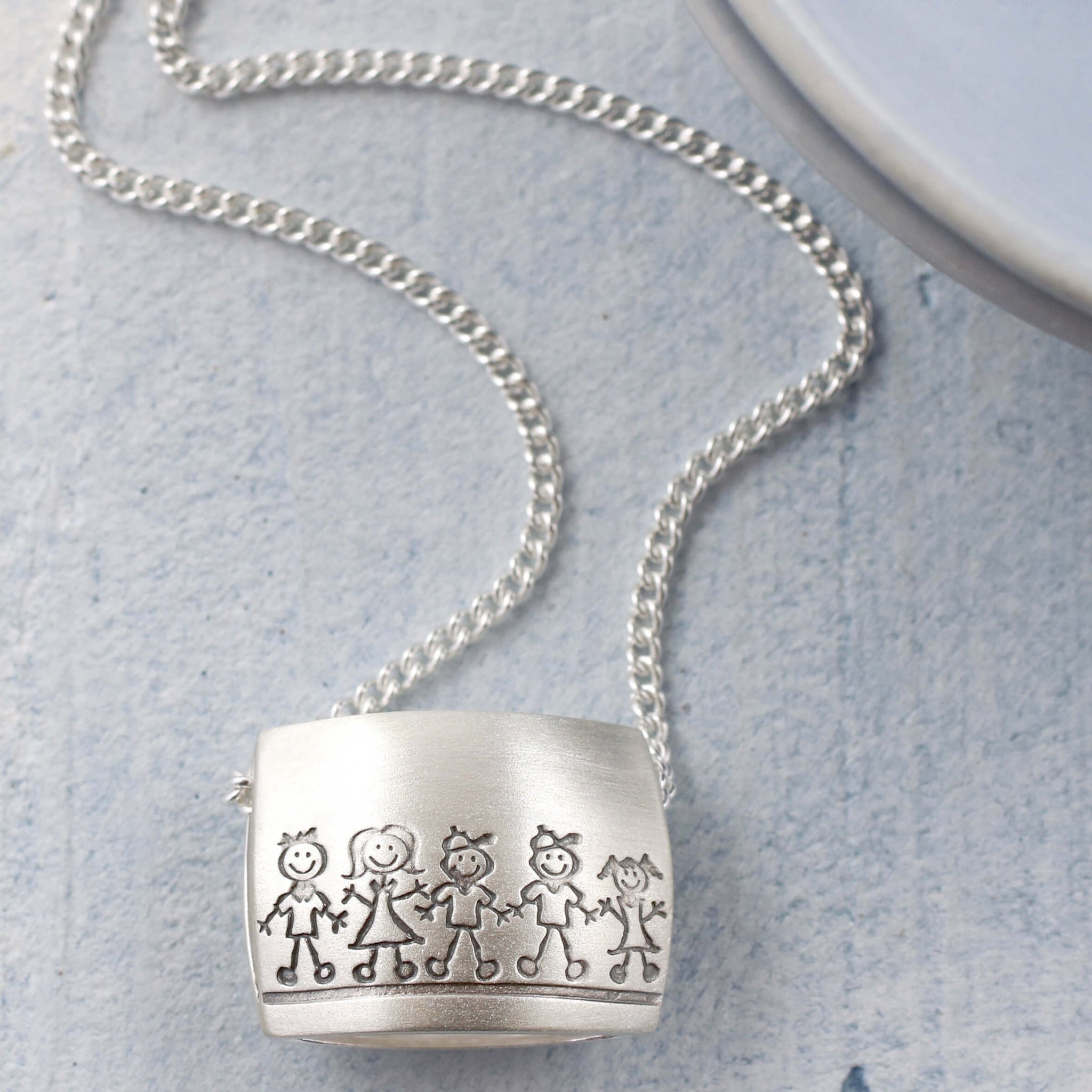 personalised my family necklace