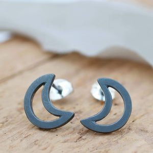 Celestial Jewellery moon stud earrings