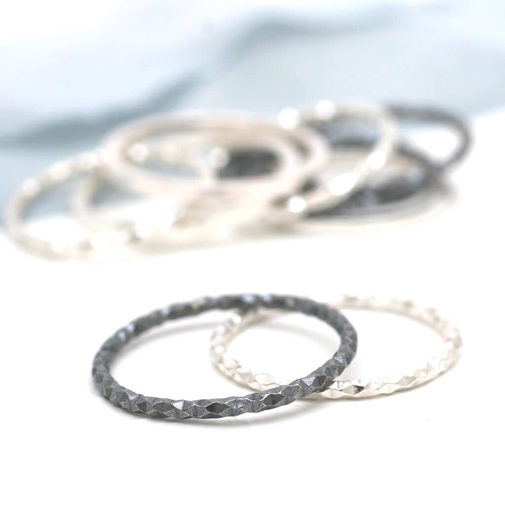 delicate silver rings