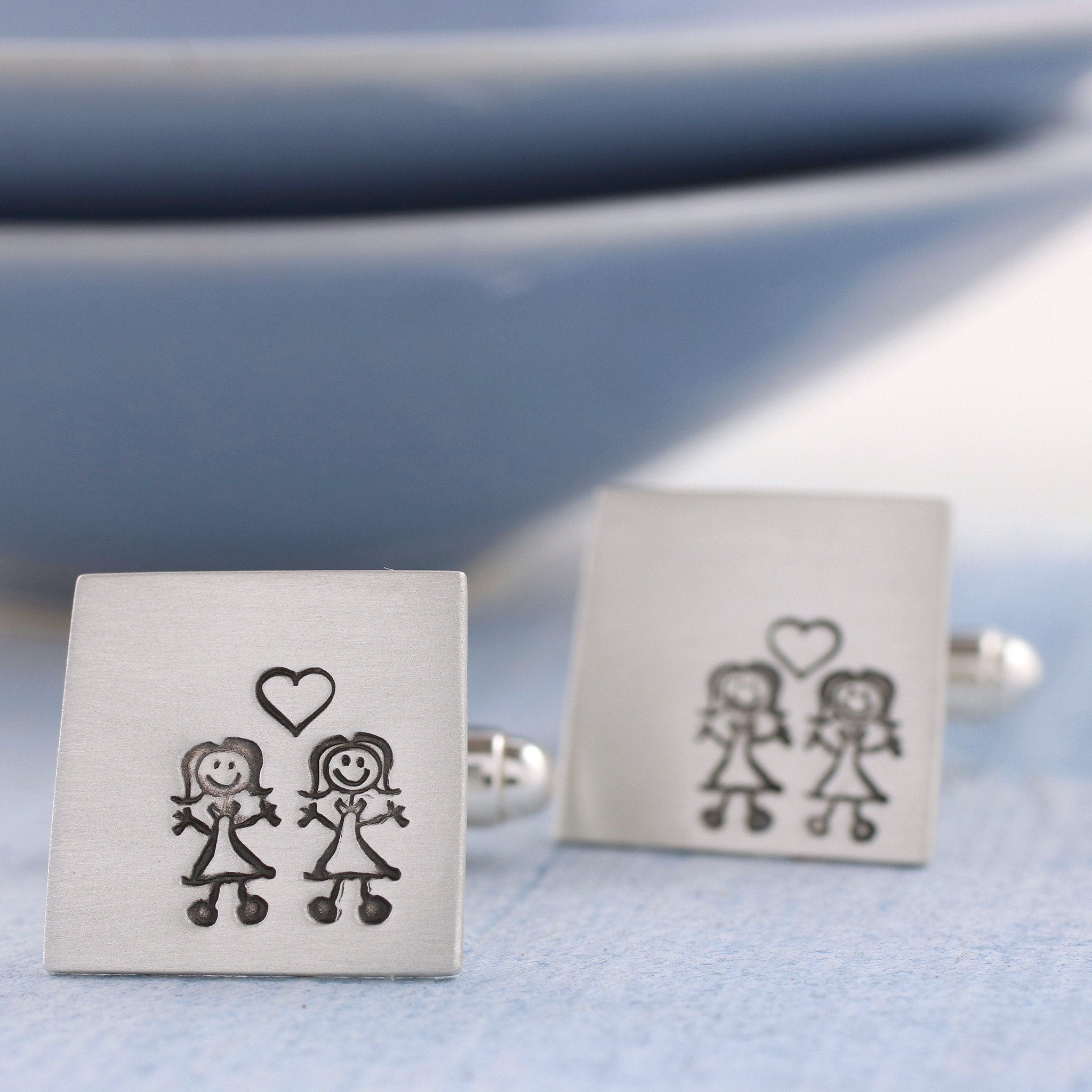 stick figure cufflinks