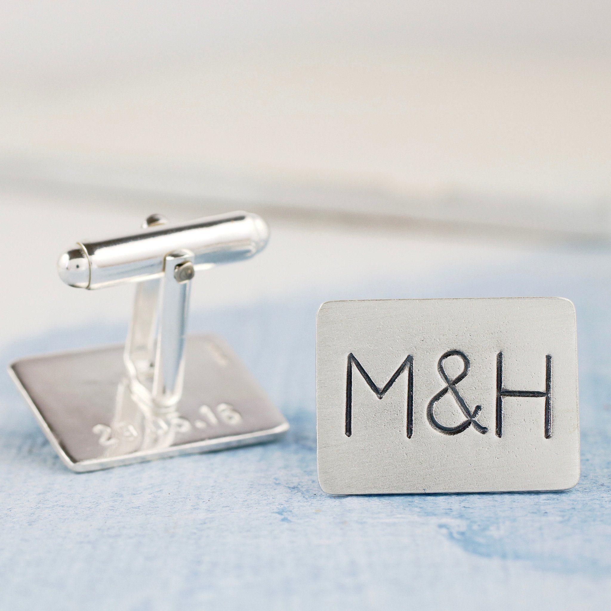 Monogram Wedding Cufflinks for the groom