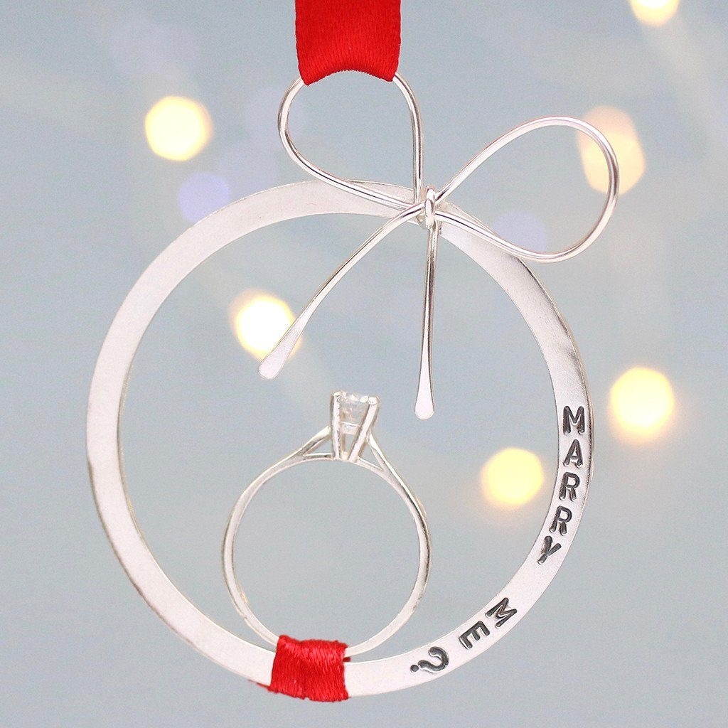 Marry Me Bauble. Christmas Proposal Keepsake
