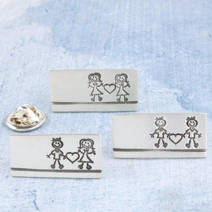 couples pin badge