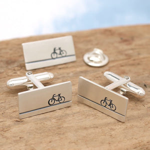 bicycle cufflinks gift set