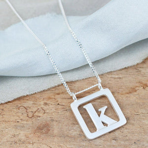 Personalised Silver Initial Necklace