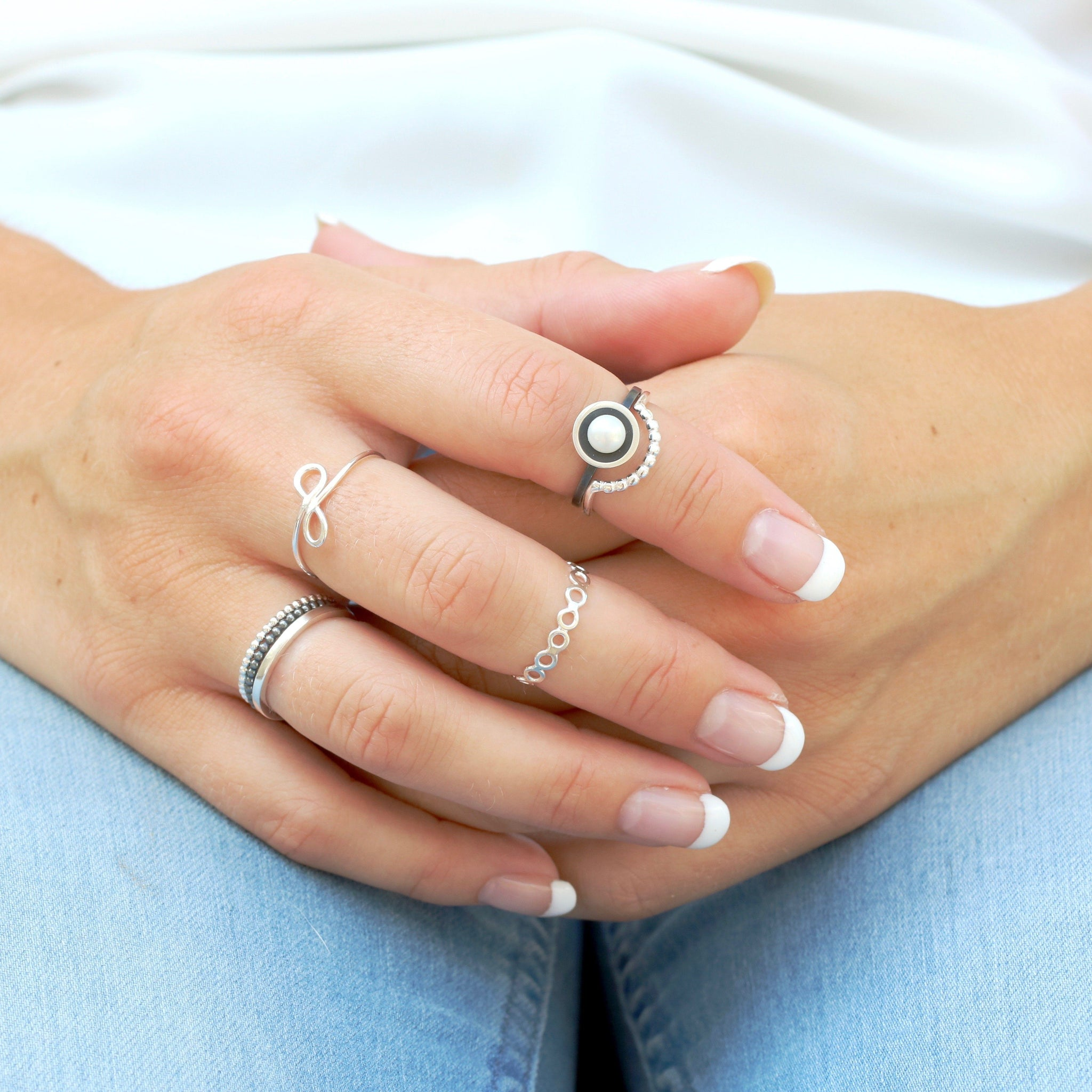 pearl stacking rings