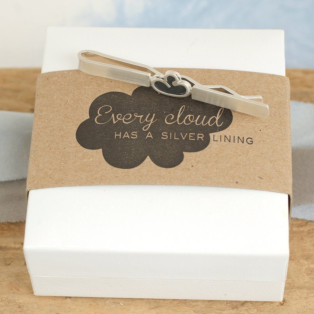 Every Cloud Tie Clip Sterling Silver