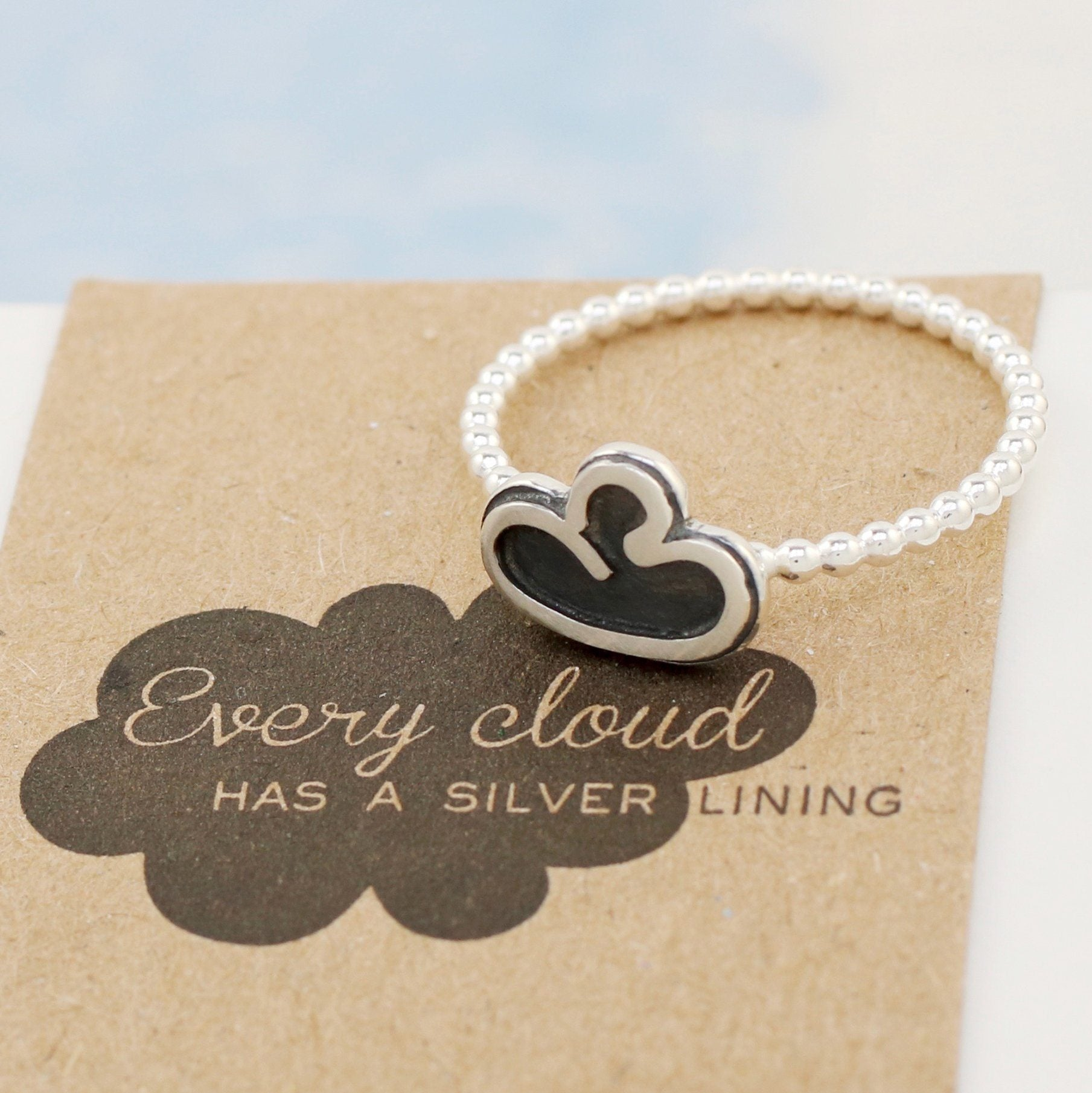 Cloud Ring. Thinking Of You Gift For Friend