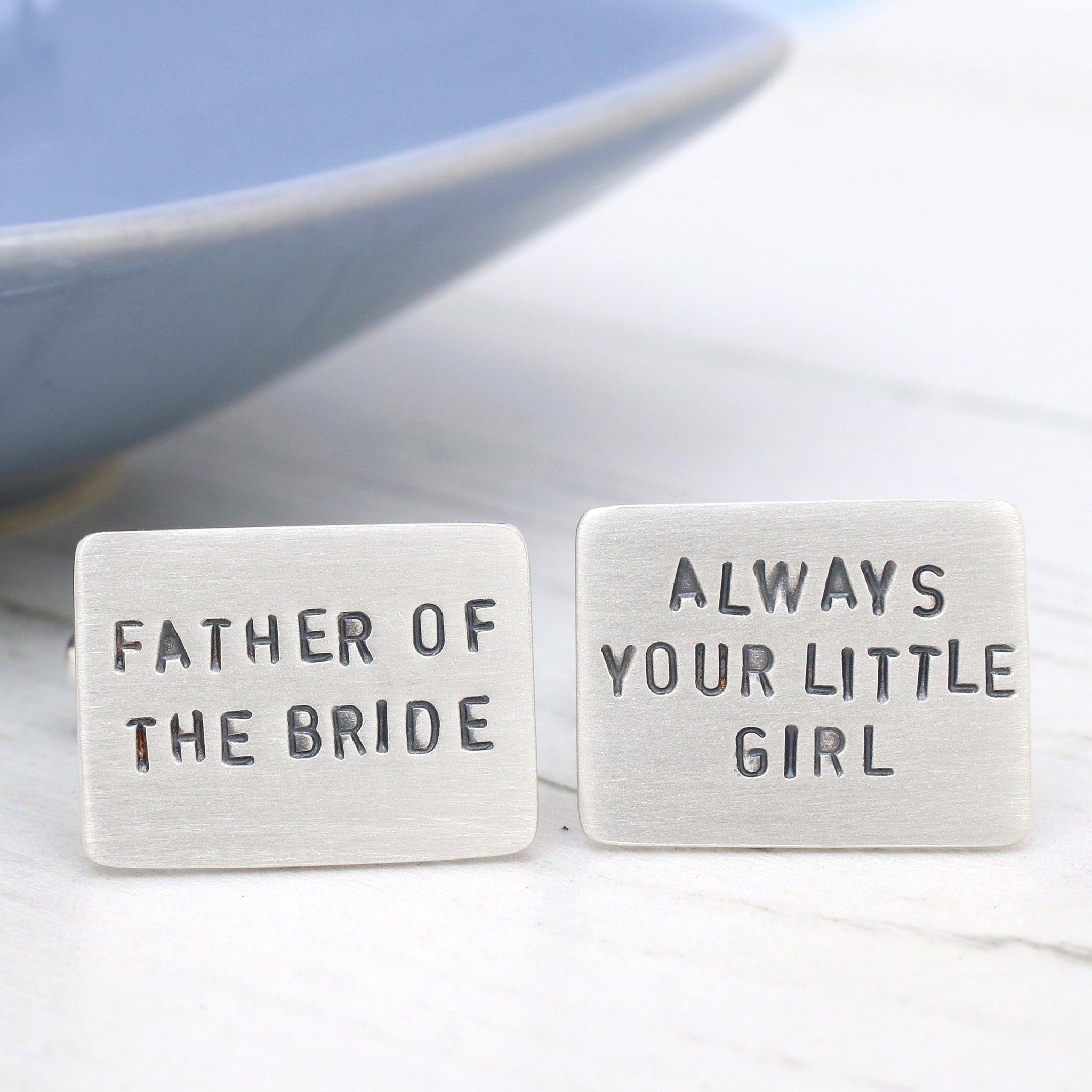 Personalised Silver wedding Cufflinks