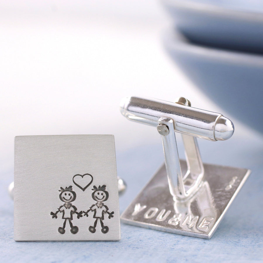 Custom Valentine's Day Cufflinks. Anniversary Gift For Him