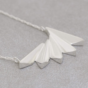 silver art deco necklace