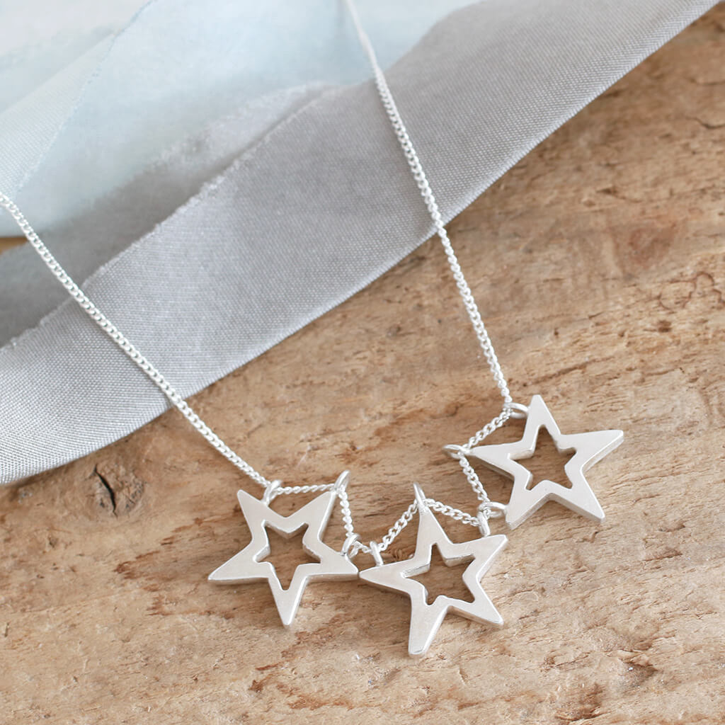 Three Star Necklace
