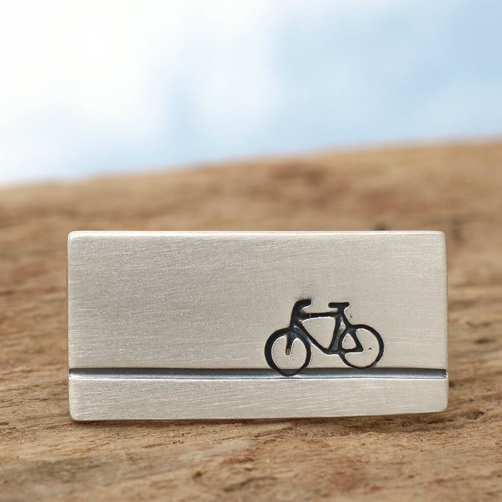 bicycle tie pin