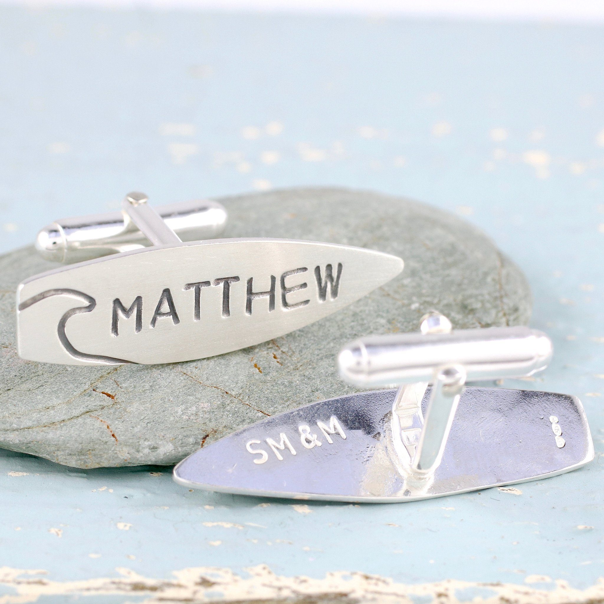 surfboard cufflinks gift