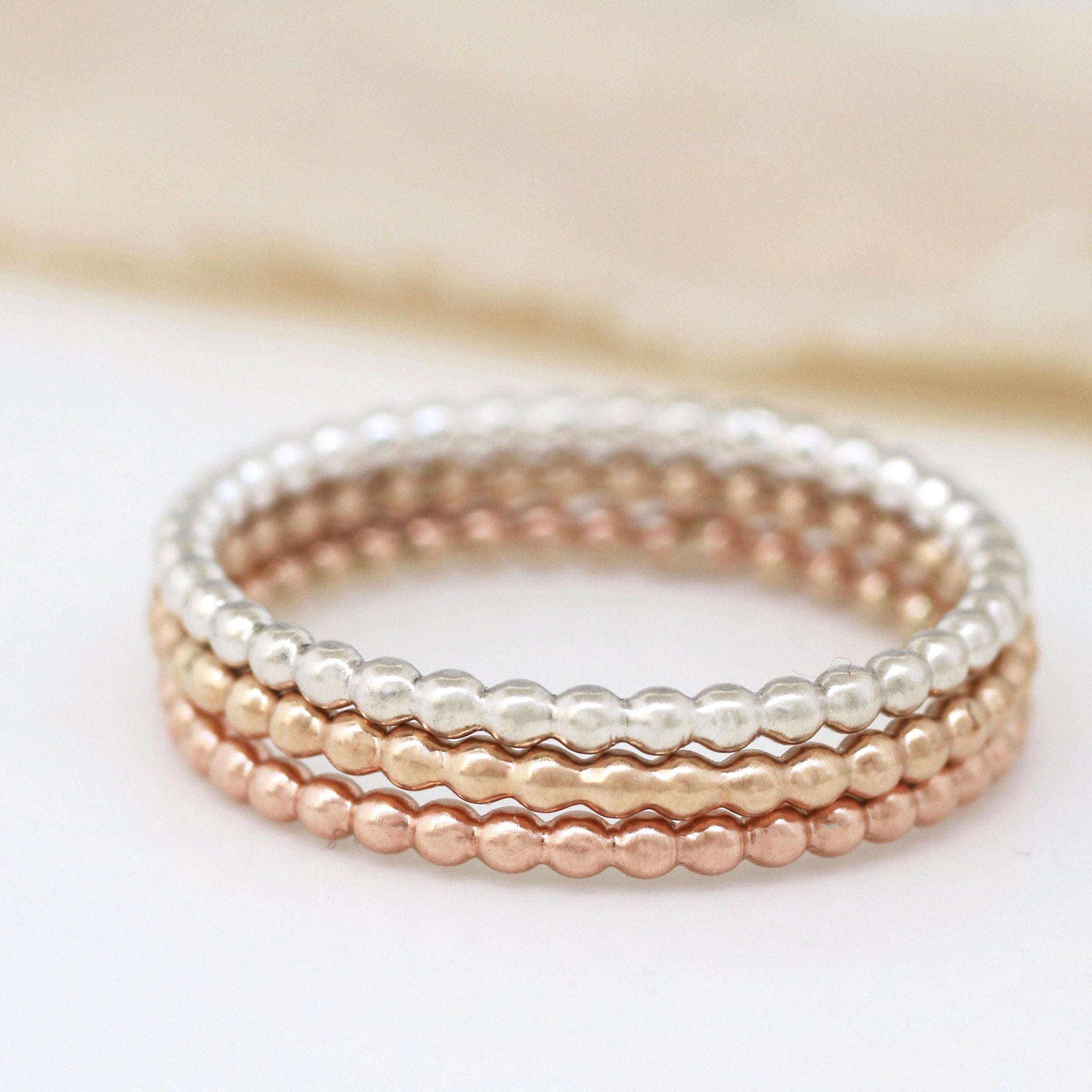 Thin Rings. 9ct Gold Stackable Ring Set