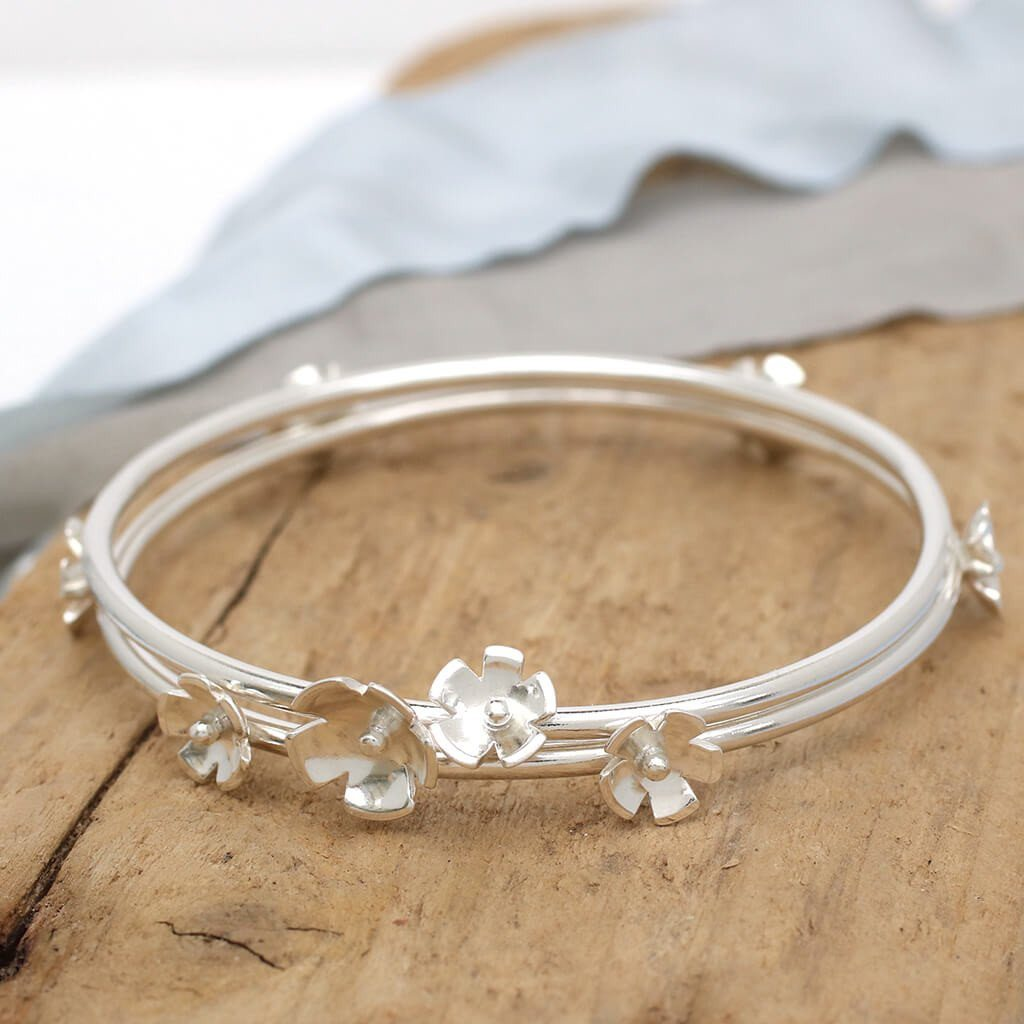 handmade flower bangle