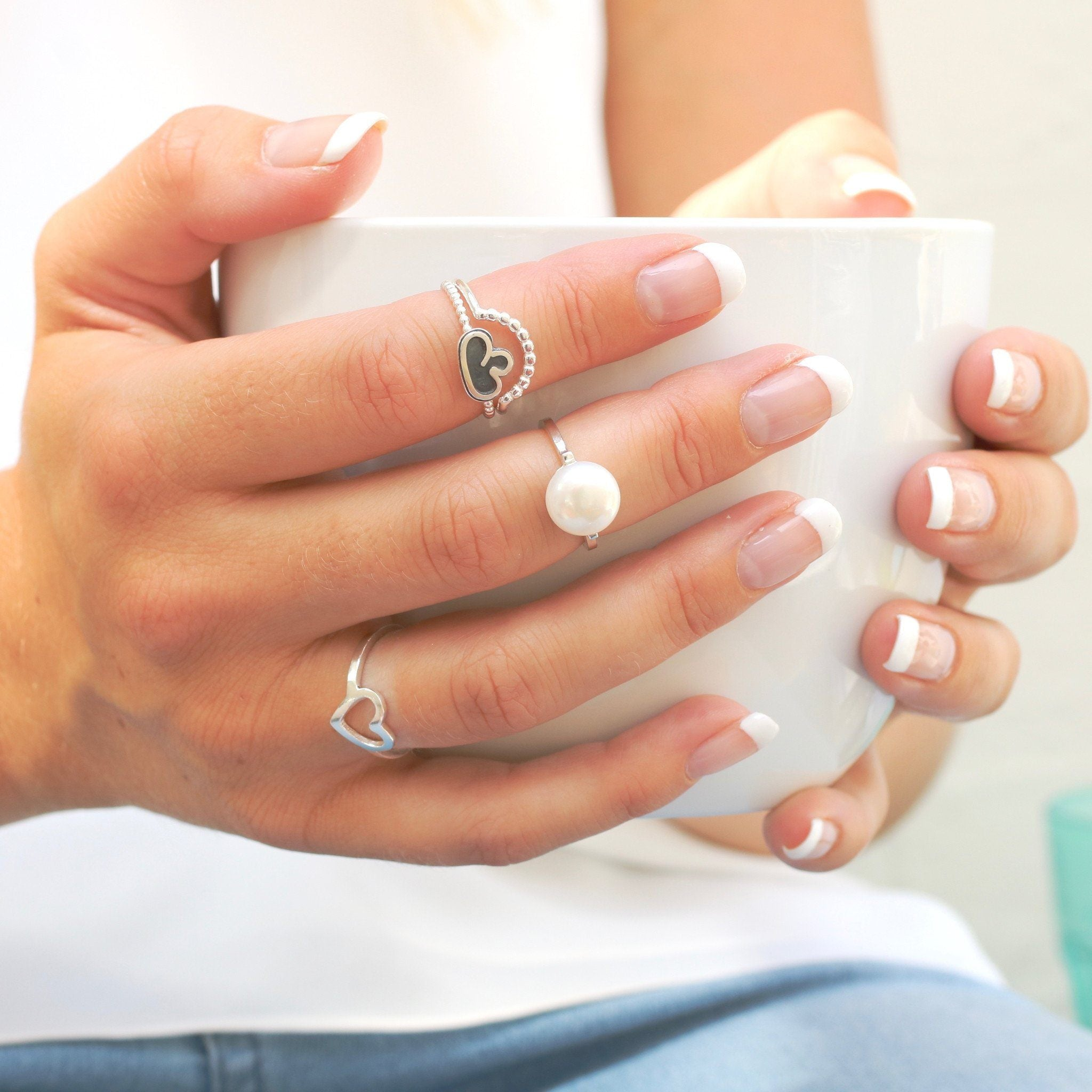 stackable midi thumb rings
