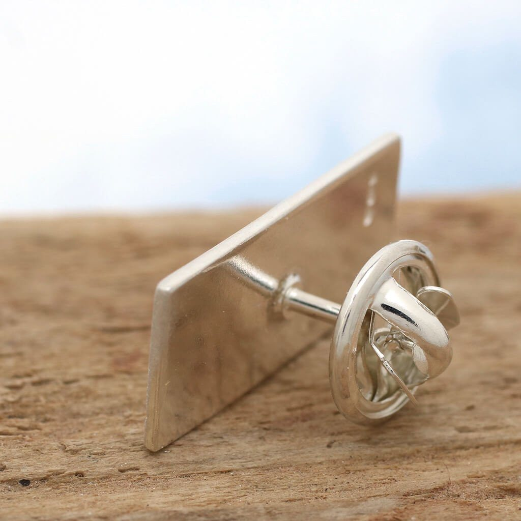 Sterling silver tie tack pin